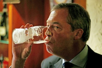 Nigel Farage Phoning Local Nightclub Lost & Found To For Lost Seat