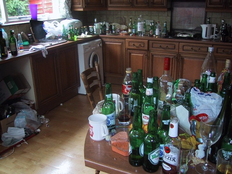 Bloke Doing Big Clean Up After House Party To Be Rewarded With Medal