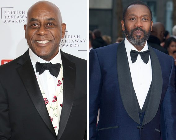 Ainsley harriot Lenny Harriott Idris Elba Frank Bruno London