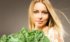 girl with kale