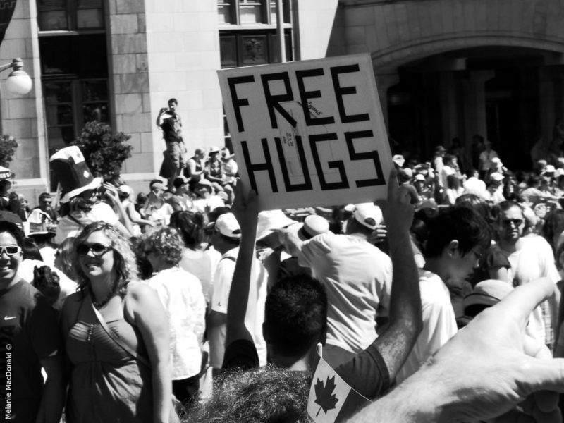 Man Offering Free Hugs Actually Working Through Years Of Neglect