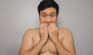 Man worried about posing nude after taking pills