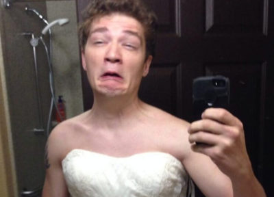 Afterparty Declared Weird After Man In Mum S Wedding Dress Drinks Own